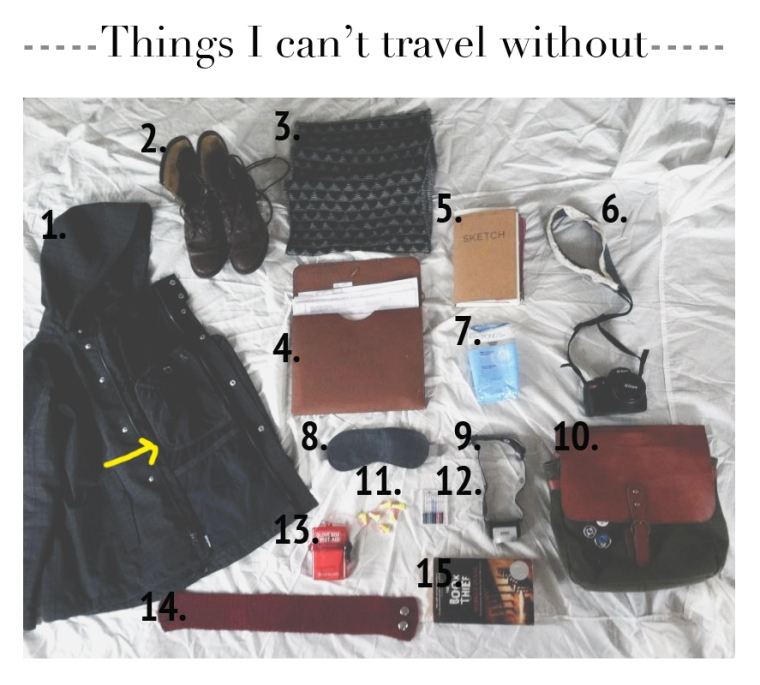 Things I cant travel without