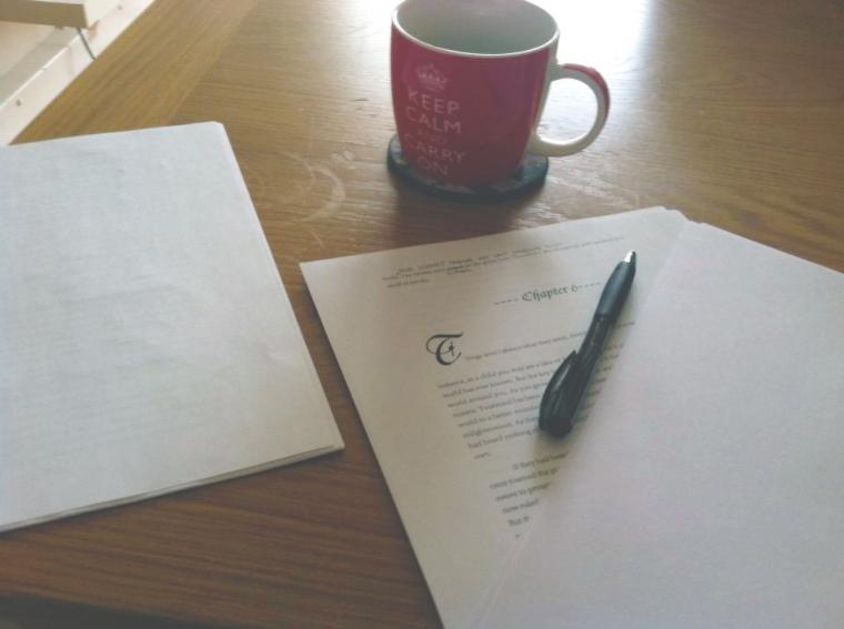 Writing in London, England