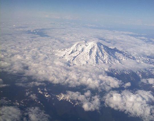 Flying over my beautiful Washington Mountains on my way to California