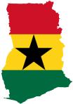 Ghana-Flag-Map