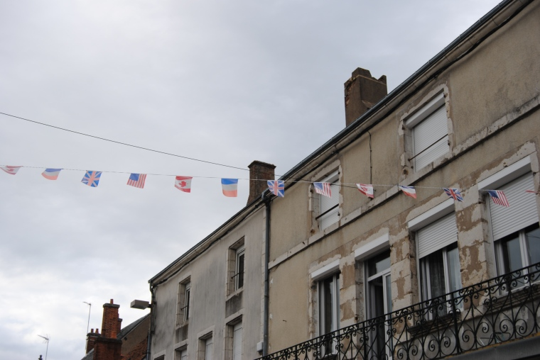 French, American and British Flags flying high this weekend.